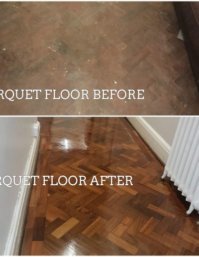 PARQUET FLOOR BEFORE AND AFTER WORK PICTURES